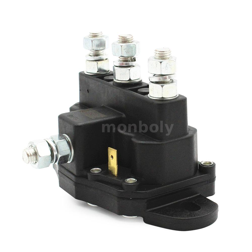 Dc Contactor Atv Winch Motor Solenoid Reversing Polarity Relay Switch Usa T5z8